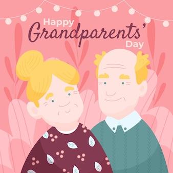 Disegnata a mano nazionale giorno dei nonni sfondo