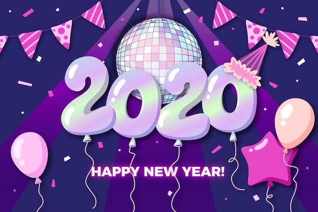 Disegnata a mano nuovo anno 2020 sullo sfondo