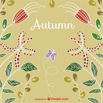 Disegnata a mano sfondo autunno