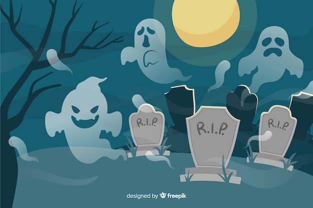 Disegnata a mano sfondo di halloween