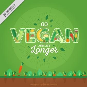 Disegnata a mano sfondo vegan
