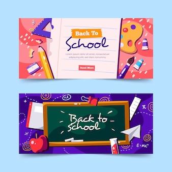 Disegnati a mano a scuola banner