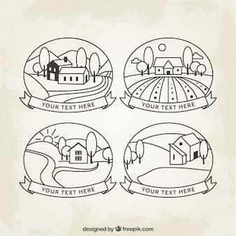 Disegnati a mano badge campagna