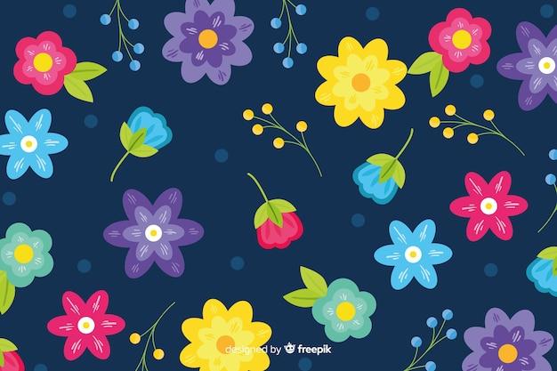 Disegnati a mano bellissimo sfondo floreale