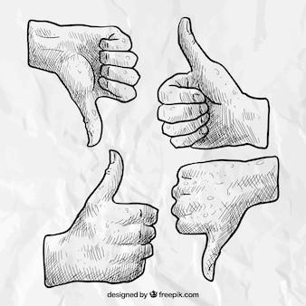 Disegnati a mano le mani