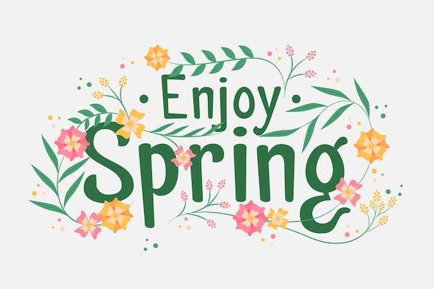 Disegnati a mano primavera sfondo