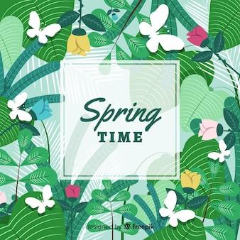 Disegnati a mano sfondo floreale primavera
