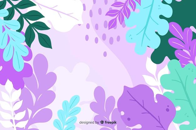 Disegnato a mano astratto sfondo floreale
