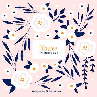 Disegnato a mano bella sfondo floreale