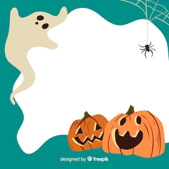 Disegnato a mano della cornice verde di halloween