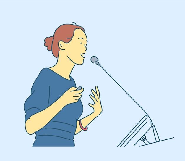 Disegnato a mano della donna di affari