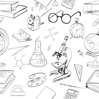Disegnato a mano di fondo di educazione