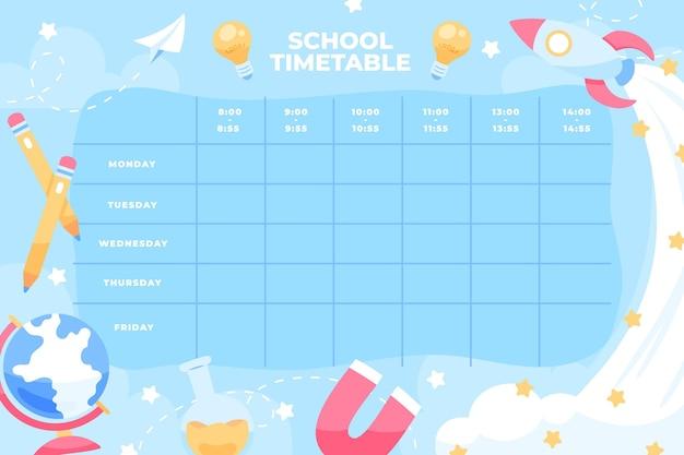 Disegnato a mano di nuovo al modello dell'orario della scuola