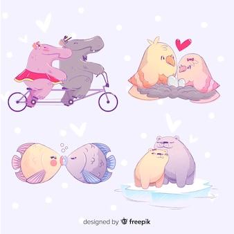 Disegnato a mano di simpatici animali