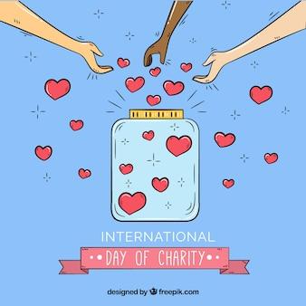 Disegnato a mano giorno internazionale di carità illustrazione