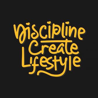 Disegnato a mano lettering citazione ispiratrice e motivazionale