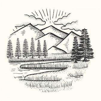 Disegnato a mano paesaggio