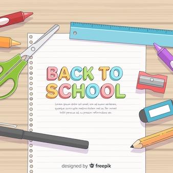 Disegnato a mano torna a scuola sfondo
