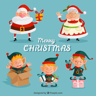 Disegnato natale personaggi collection