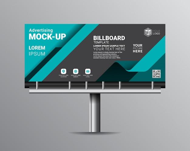 Disegni del modello del tabellone per le affissioni per la pubblicità esterna.