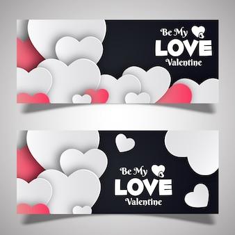 Disegni di banner di san valentino