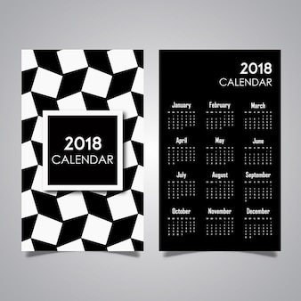 Disegni di calendario pattern in bianco e nero