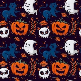 Disegni di halloween di design disegnato a mano