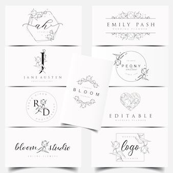 Disegni di logo botanici femminili