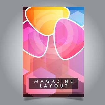 Disegni di modello di layout di rivista astratta vettoriale