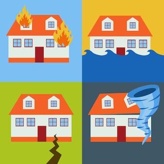 Disegni disastro naturale