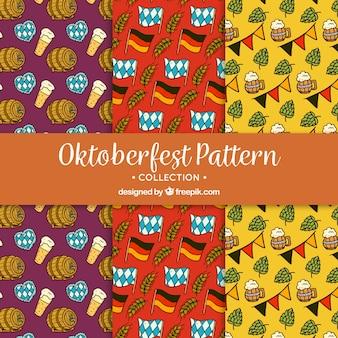 Disegni divertenti con complementi tedeschi colorati