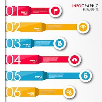Disegni infografica vettoriale colorato