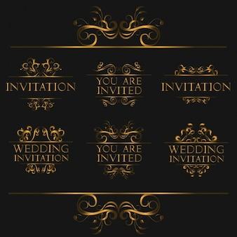 Disegni invito nozze ornamentale