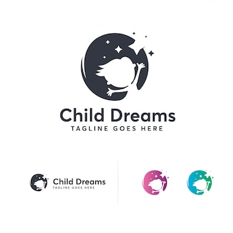 Disegni logo di sogni di bambini