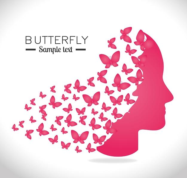 Disegno a farfalla