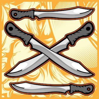 Disegno a mano coltello