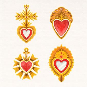 Disegno ad acquerello cuore sacro