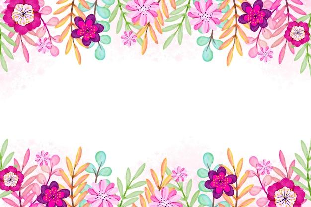 Disegno ad acquerello primavera per lo sfondo