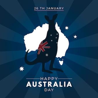 Disegno artistico con il tema del giorno in australia