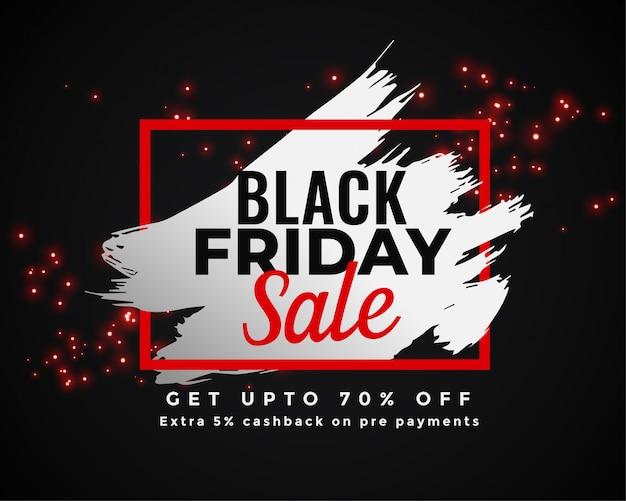 Disegno astratto banner di vendita venerdì nero