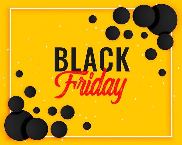 Disegno astratto banner giallo venerdì nero