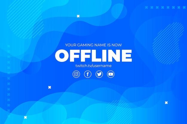 Disegno astratto banner twitch offline