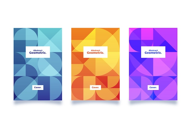 Disegno astratto collezione di copertine geometriche