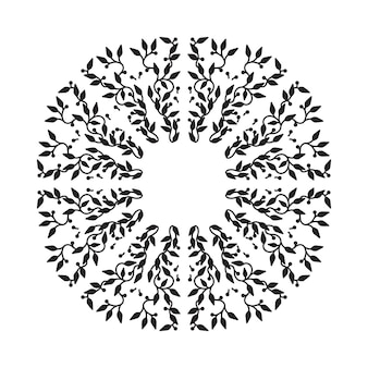 Disegno astratto cornice colore nero