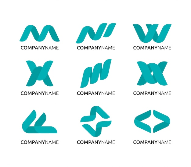Disegno astratto del logo, logo aziendale pulito