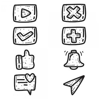 Disegno astratto dell'icona di doodle del fumetto