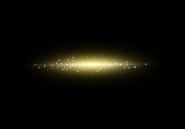 Disegno astratto dell'onda dell'oro di colore brillante con scintillio