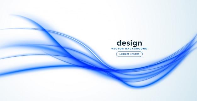Disegno astratto della bandiera dell'onda della linea blu