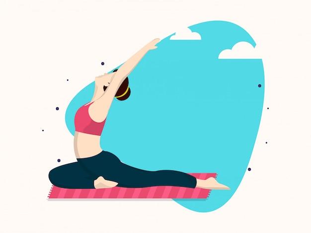 Disegno astratto della priorità bassa per il giorno internazionale di yoga