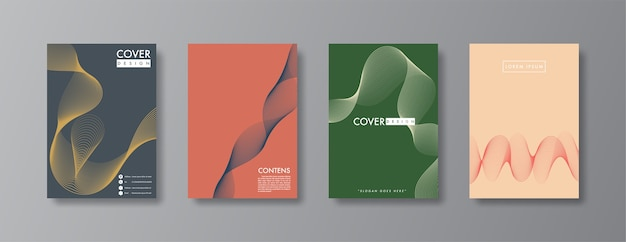 Disegno astratto di copertina e brochure.